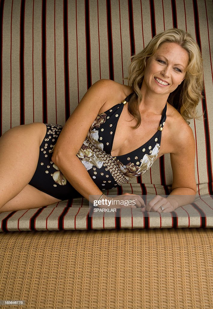 Mature Swimsuit Model Stock Photo | Getty Images