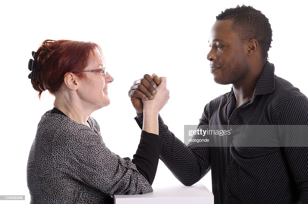 White mature and black