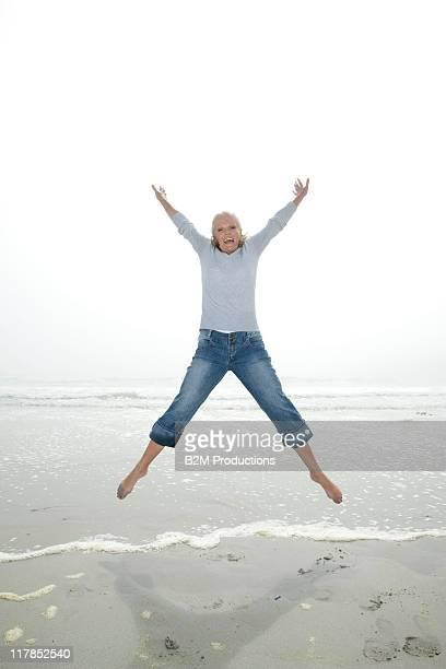 Mature woman at beach