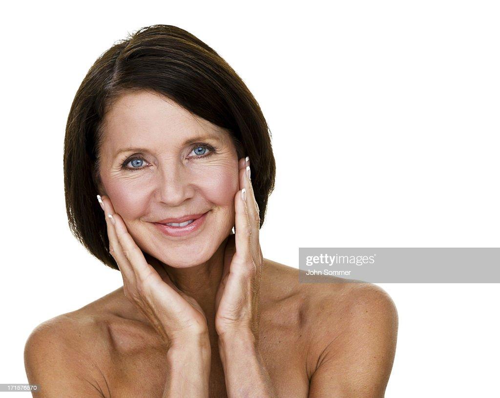 córneo mujer madura facial