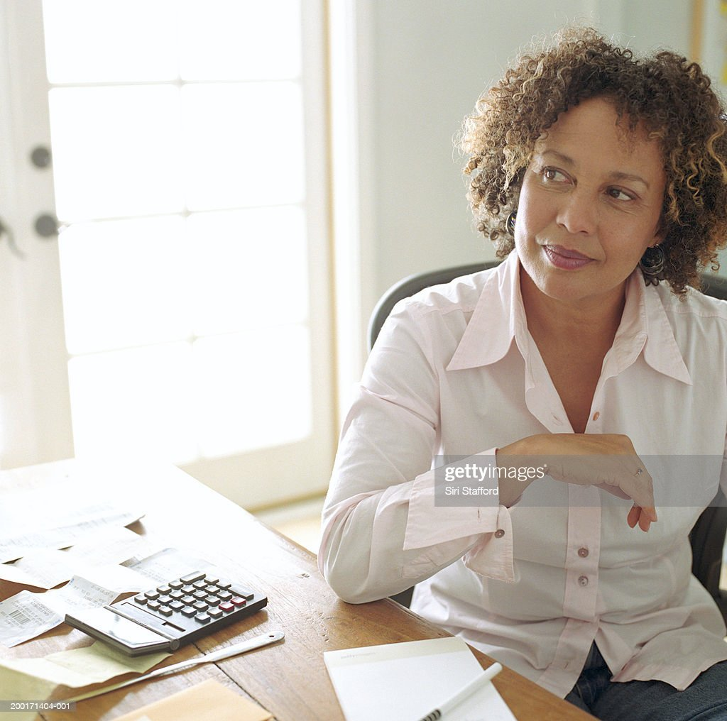 Mature women office secretary thank for