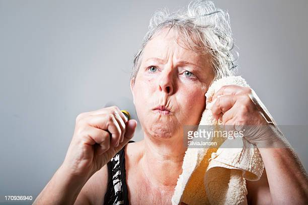 mature woman having hot flash