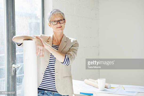 mature woman in designers studio