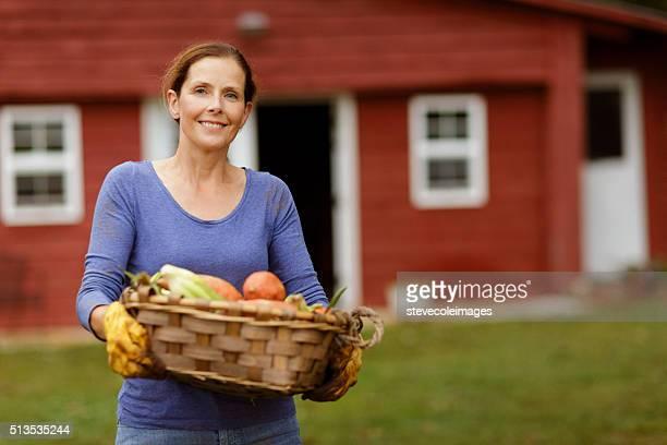 Mature Woman in Garden