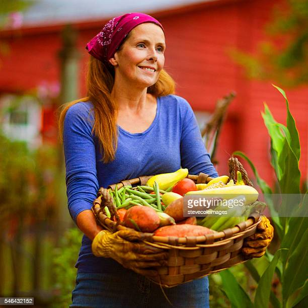 Mature Woman in Garden