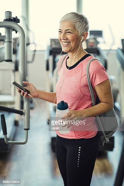 Mature Woman In The Gym.