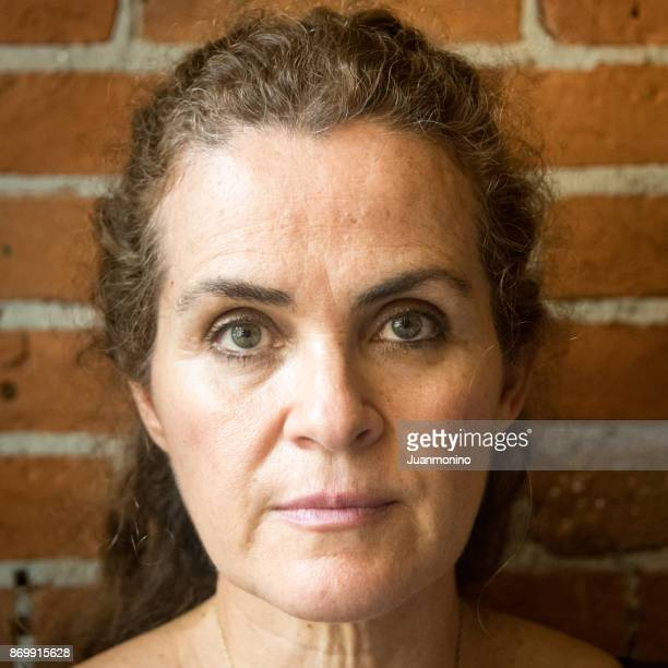 Mature woman looking at the camera