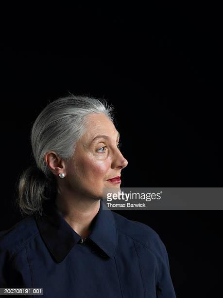 Mature woman looking away