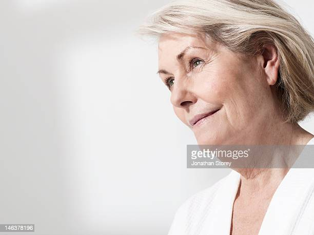 Mature woman looking in to the distance