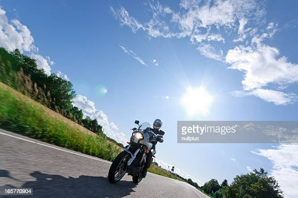 mature woman on motorcycle
