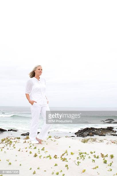 Mature woman on the beach