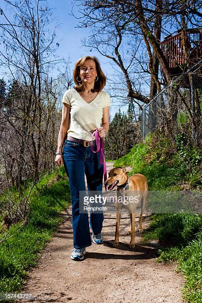 Mature Woman Portrait With Her Dog