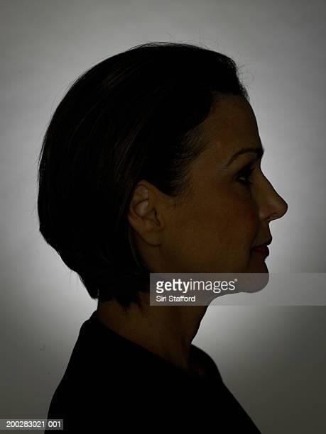 Femme d'âge mûr, profil