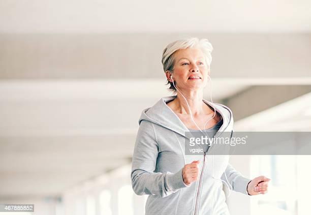 Mature Woman Running.