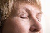 Mature woman,  skin around eyes