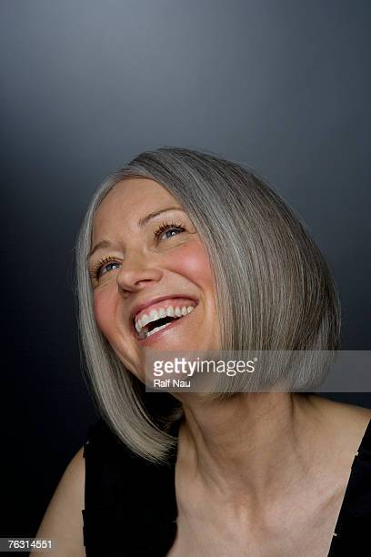 Mature woman smiling, close-up