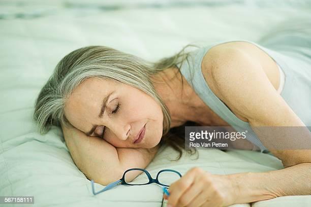 Mature Woman Taking a Nap