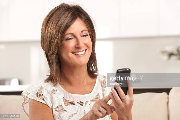 Mature woman text messaging