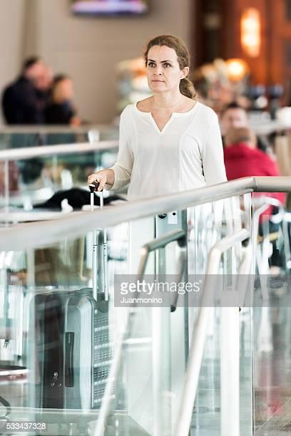 mature woman travelling