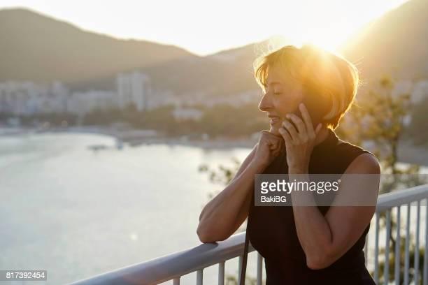 Mature  woman using mobile phone
