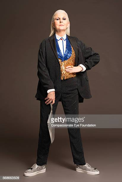 Mature woman wearing stylish clothes