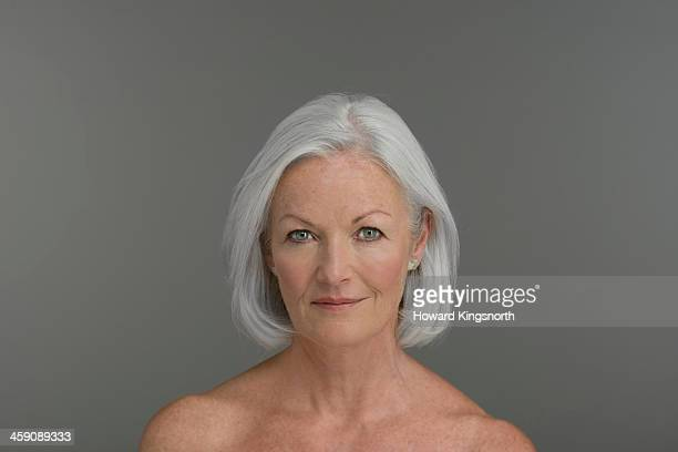 topless middle aged woman