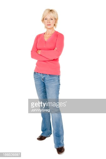 Mature Woman With Crossed Arms - Isolated
