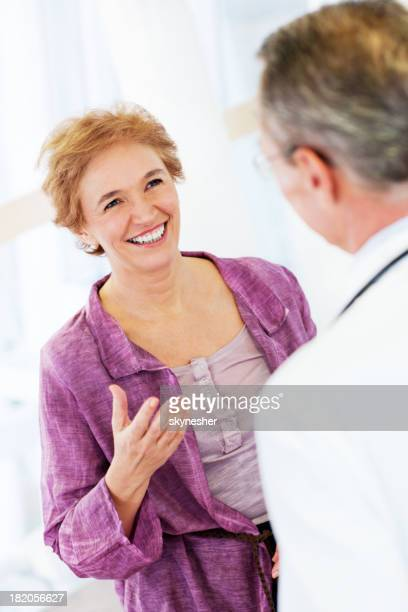 Mature woman with her doctor.