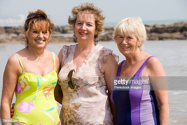 Mature women in bathing suits