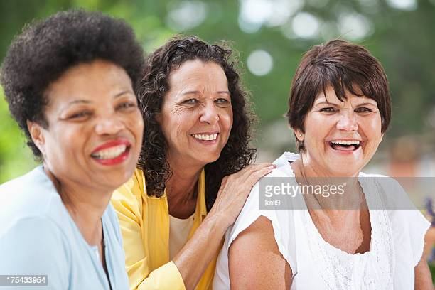 Mature women smiling