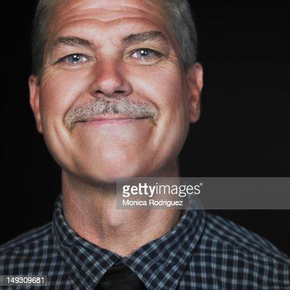 Matured Man Smiling