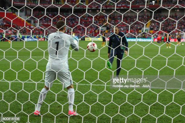 Maty Ryan of Australia warms up during the FIFA Confederations Cup Russia 2017 Group B match between Chile and Australia at Spartak Stadium on June...