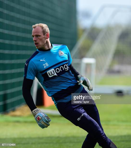 Matz Sels during the Newcastle United Training Session at the Newcastle United Training Ground on April 21 2017 in Newcastle upon Tyne England