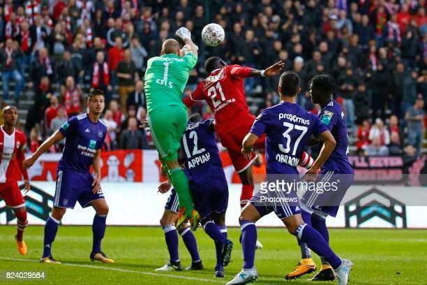 Matz Sels goalkeeper of RSC Anderlecht pictured during the Jupiler Pro League match between Royal Antwerp FC and Rsc Anderlecht in Bosuil stadium on...