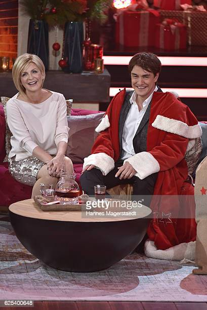 Matze Knop and Carmen Nebel during the tv show 'Heiligabend mit Carmen Nebel' on November 23 2016 in Munich Germany The show will be aired on...