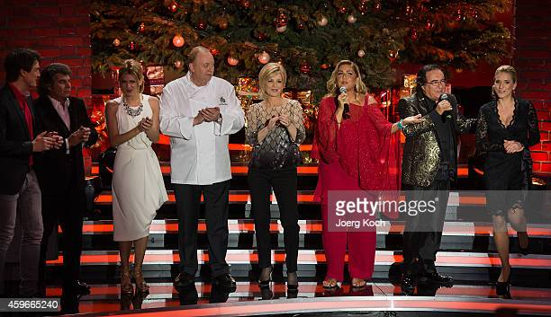 Matze Knop Andy Borg Ella Endlich Alfons Schuhbeck Carmen Nebel Romina Power Al Bano Carrisi and Stefanie Hertel attend the taping of the TV show...