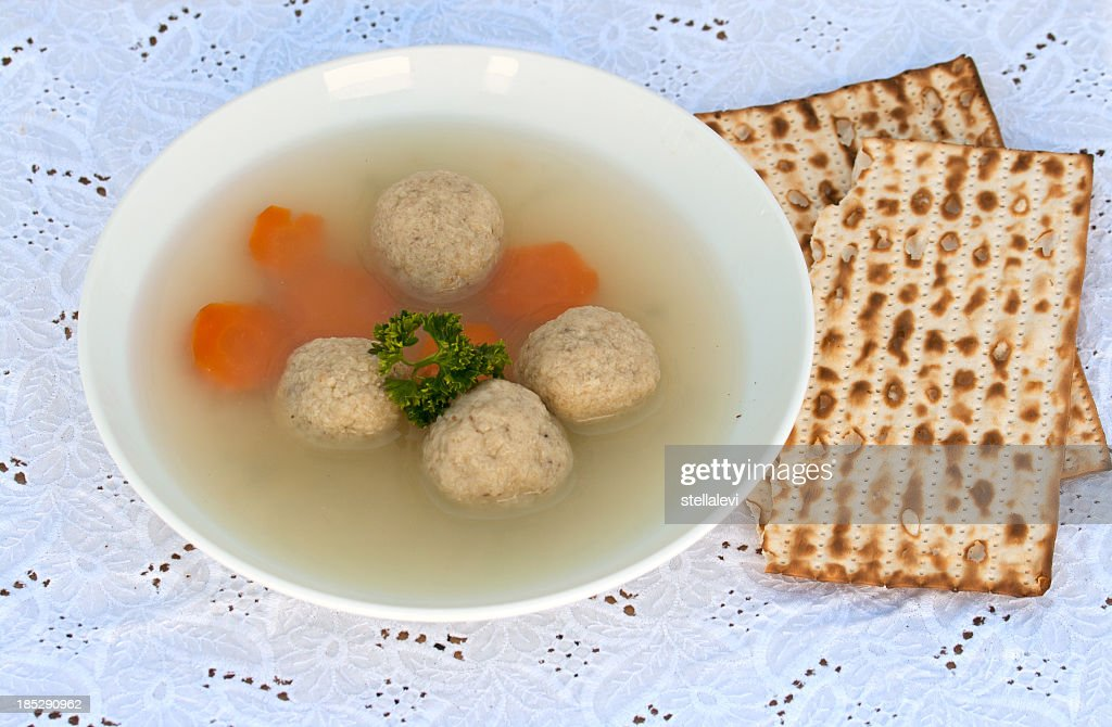 Matzo-Balls soup : Stock Photo