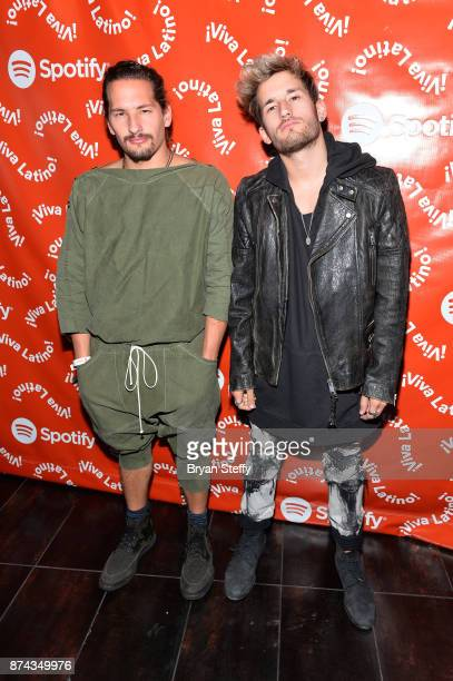 Mau and Ricky of Mau y Ricky at Spotify Celebrates Latin Music and Their Viva Latino Playlist at Marquee Nightclub on November 14 2017 in Las Vegas...