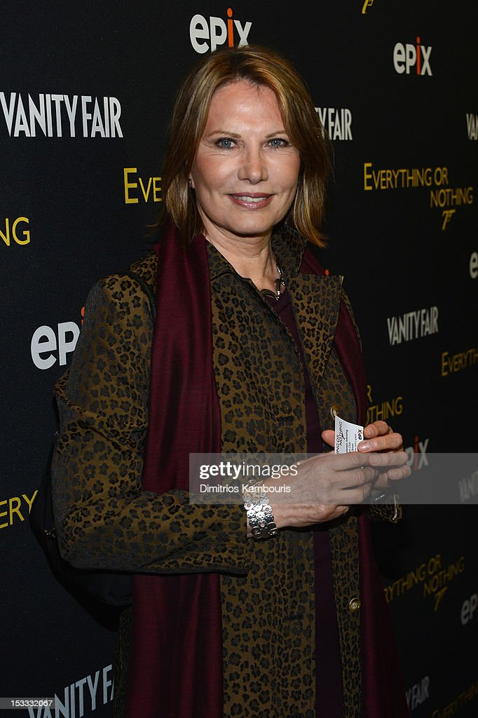 Maud Adams attends EPIX Presents the Premiere screening of 'Everything or Nothing: The Untold Story of 007' at MOMA on October 3, 2012 in New York City.