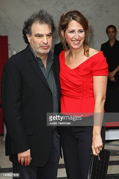Maud Fontenoy and Raphael Mezrahi attend the Maud Fontenoy Foundation Annual Gala at Hotel de la Marine on June 7 2012 in Paris France