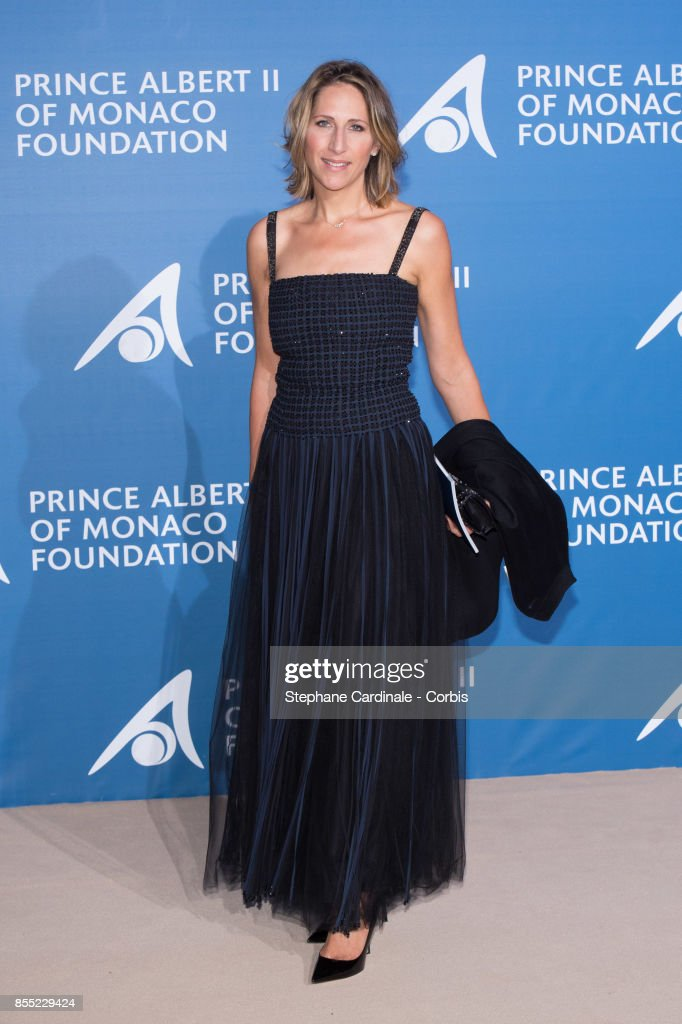 Maud Fontenoy attends the Inaugural 'Monte-Carlo Gala For The Global Ocean' Honoring Leonardo DiCaprio at The Monaco Garnier Opera on September 28, 2017 in Monaco, Monaco.