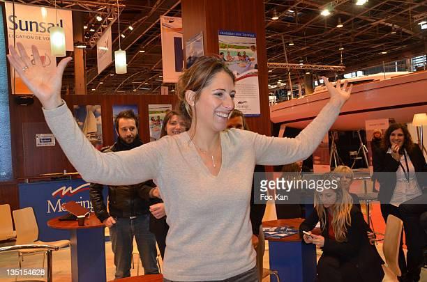 Maud Fontenoy attends the Maud Fontenoy Foundation launch of Antarctic Exhibition at the Salon Nautique Parc des Expositions Porte de Versailles on...
