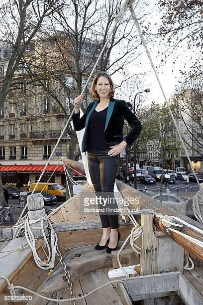 Maud Fontenoy visits 'Aventuries des Mers' Exhibition at Institut du Monde Arabe on December 14 2016 in Paris France