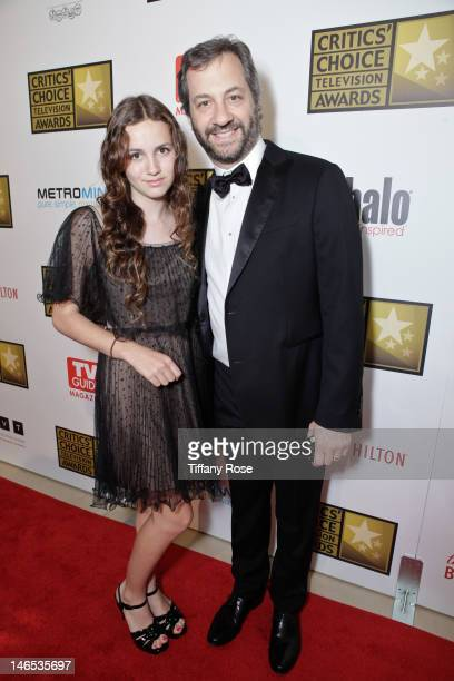Maude Apatow and filmmaker Judd Apatow attends the 2nd annual Critic's Choice Television Awards sponsored by Metromint water at The Beverly Hilton...