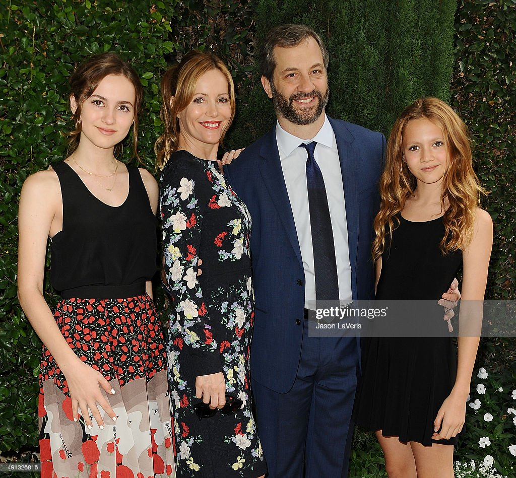 Maude Apatow Leslie Mann Judd Apatow and Iris Apatow attend the Rape Foundation's annual brunch at Greenacres The Private Estate of Ron Burkle on...