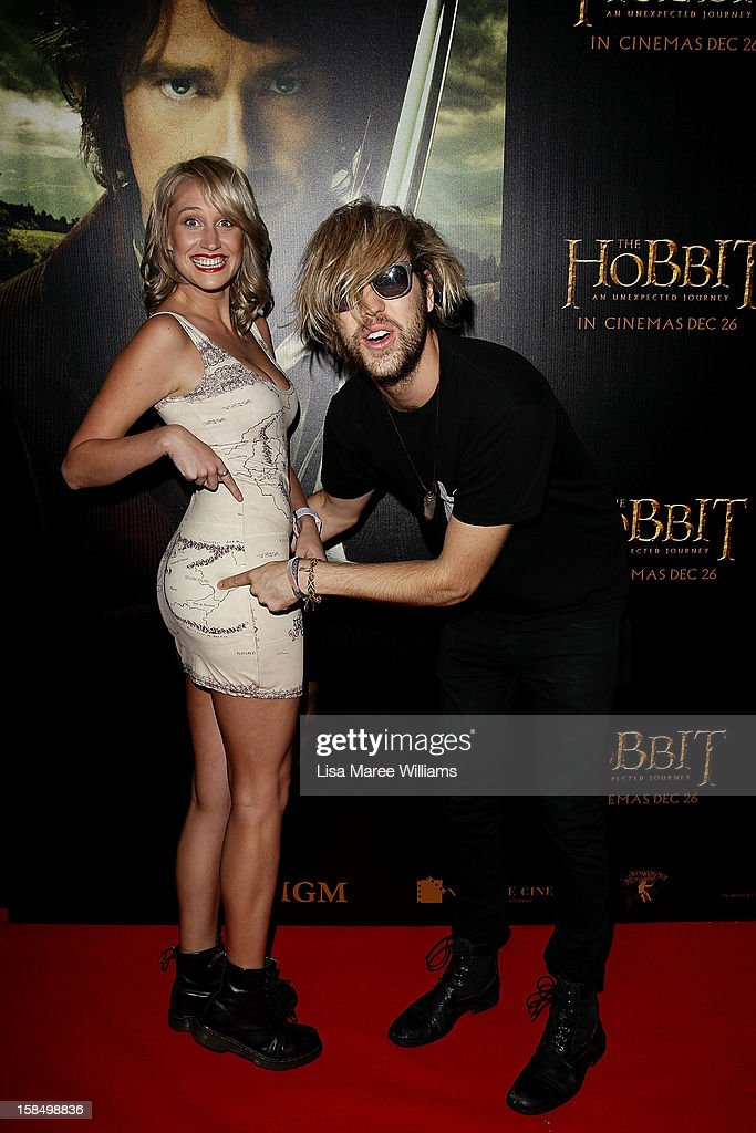 Maude Garrett and Danny Clayton attend the Sydney premiere of 'The Hobbit: An Unexpected Journey' at George Street V-Max Cinemas on December 18, 2012 in Sydney, Australia.