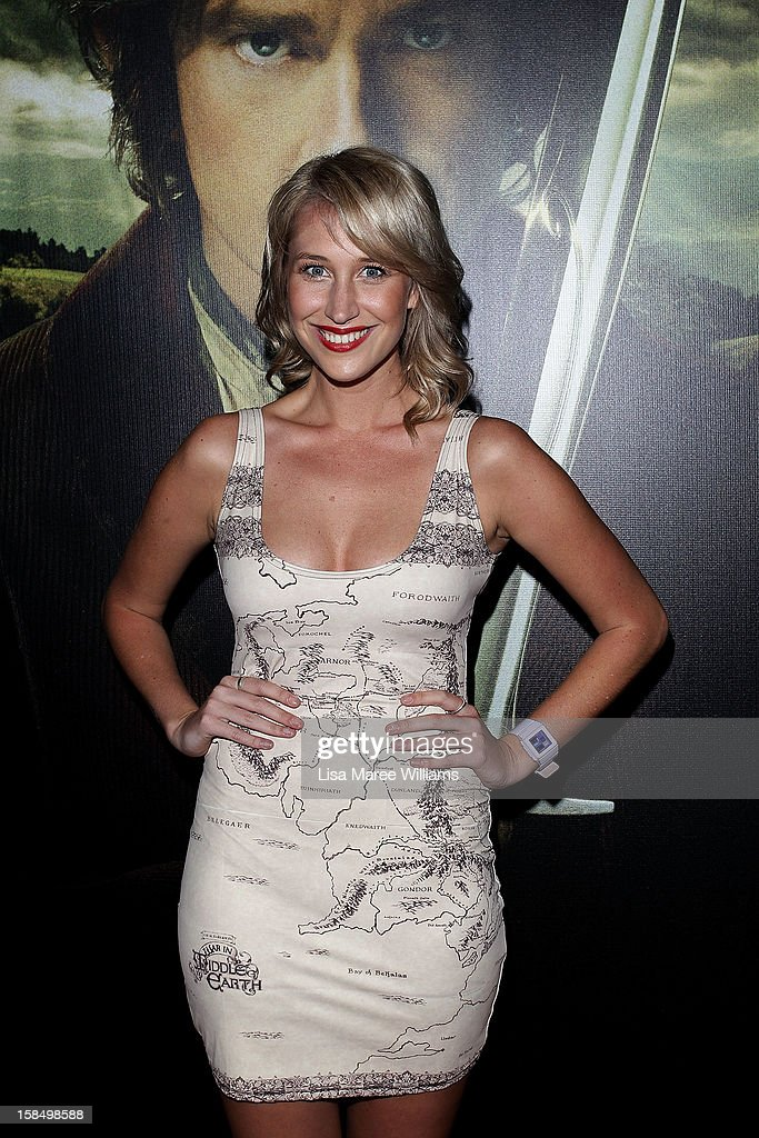 Maude Garrett attends the Sydney premiere of 'The Hobbit: An Unexpected Journey' at George Street V-Max Cinemas on December 18, 2012 in Sydney, Australia.
