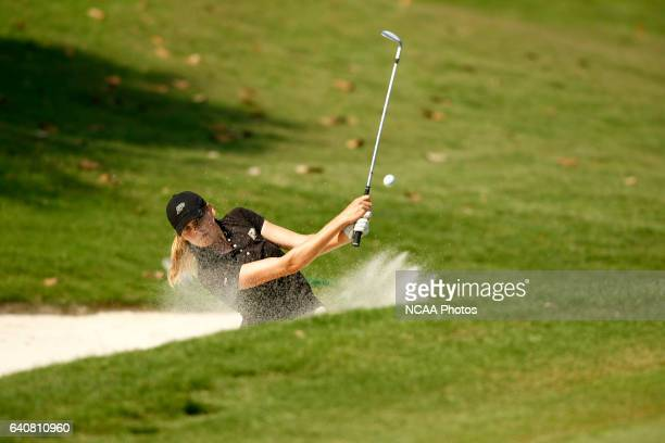 MaudeAimee LeBlanc of Purdue University hits out of the sand during the Division I Women's Golf Championship held at the Country Club of LandfallDye...