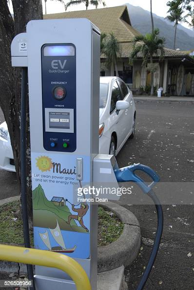 Electric Car Charge Station Pictures Getty Images