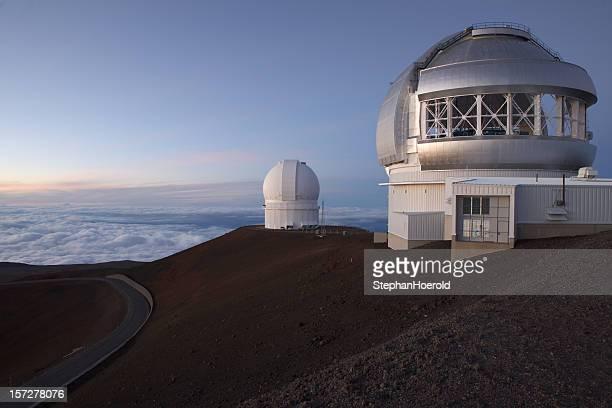 Mauna Kea observatories at sunset, Gemini telescope